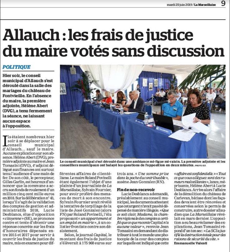 Droit à l'information, droits de l'opposition, pratiques scandaleuses à Allauch…