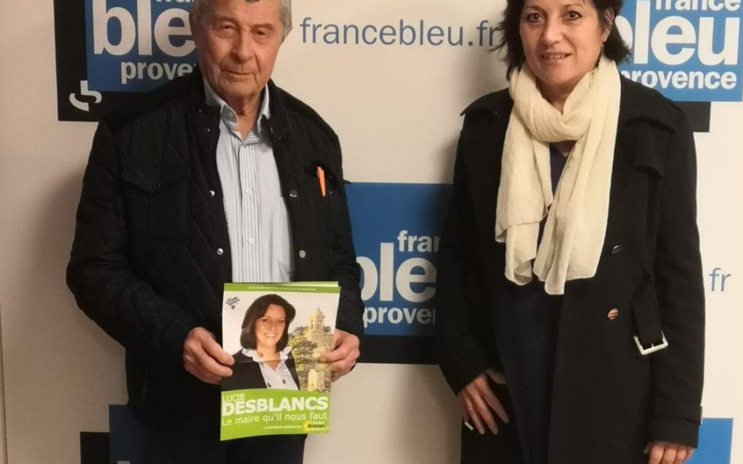 Jean Pierre Simoni, et Lucie Desblancs la candidate Allauch le Renouveau EELV aux elections municipales 2020 à Allauch, chez Radio France. Des questions précises sur sa campagne, sur Roland Povinelli, et le soutien des Verts de EELV à sa liste
