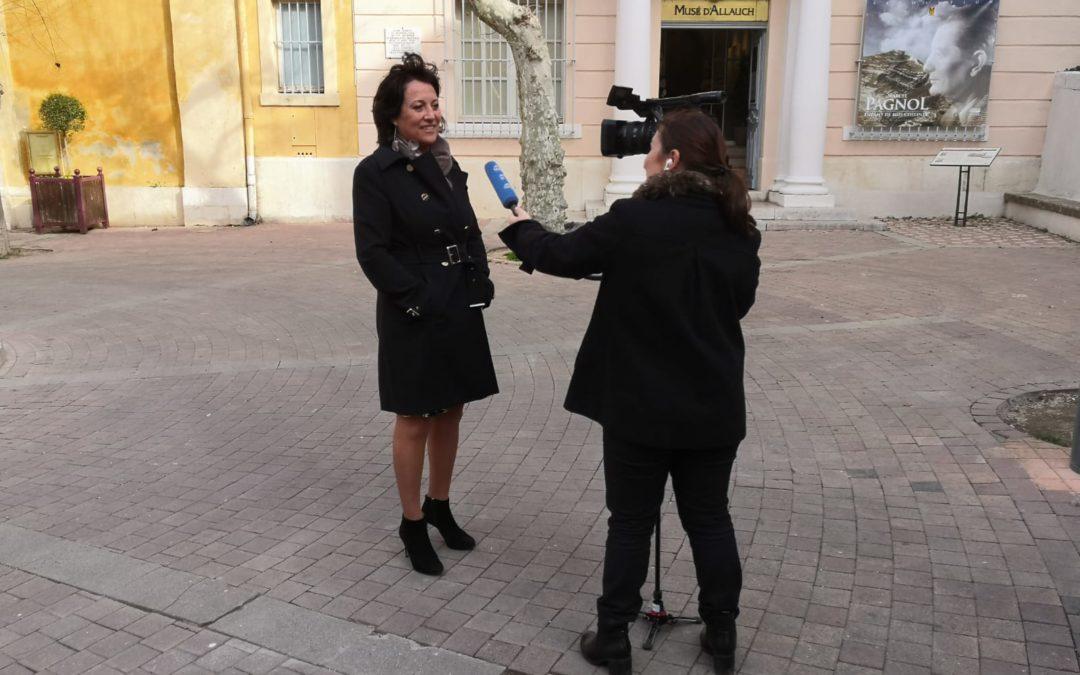 Azur TV rencontre Lucie Desblancs, candidate Allauch le Renouveau EELV à la Mair d'Allauch à l'occasion des élections municipales 2020 à Allauch